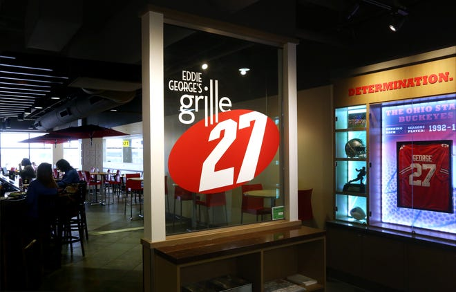Eddie George's Grill 27 is one of the places where a passenger at John Glenn Columbus International Airport will be able to purchase an alcoholic drink to go under a new airport policy.