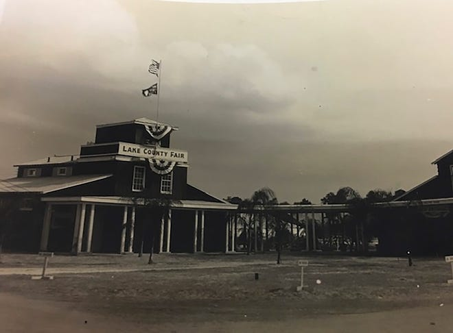 The Lake County Fair building, year unknown, is shown.