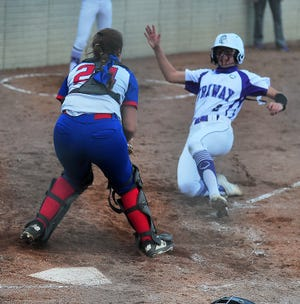 Hanna Massaro (2) and Triway and Mariam Peterson (catcher) and Tuslaw enter the playoffs as two of the local teams best suited for deep runs.