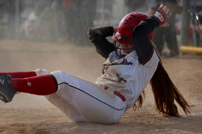Devils Lakes softball lost to Thompson, 20-4, on April 8 at Devils Lake High School.