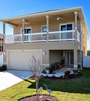 This house on South Central Avenue in Flagler Beach, built in 2018 one block from the beach, has three bedrooms and 2 1/2 baths in 4,272 square feet of living space. It also has an ocean-view balcony, an oversized fenced backyard and an outdoor shower. It sold recently for $630,000.