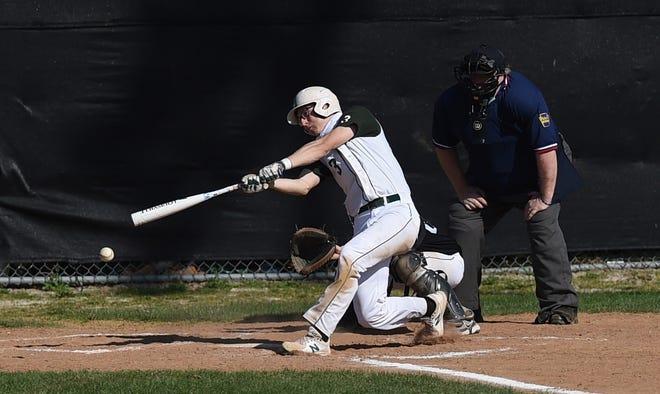 Mercyhurst Prep's Zack Danias gets a base hit against Northwestern on Friday at Northwestern High School.