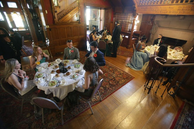 The Massillon Woman's Club recently hosted the candidates for Miss Massillonian and Outstanding Senior Boy for a luncheon. It is one of the first events held at Five Oaks mansion since the start of the pandemic more than a year ago.