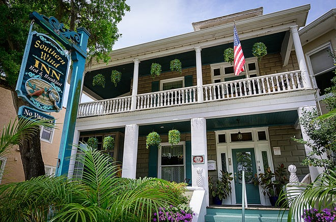 The 10-room Southern Wind Inn Bed and Breakfast, built in 1916, on Cordova Street in St. Augustine is for sale for just under $2.5 million.