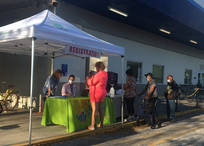 Bradenton nonprofit Turning Points transformed into a makeshift vaccine clinic Friday through a partnership with the Florida Department of Health in Manatee County.