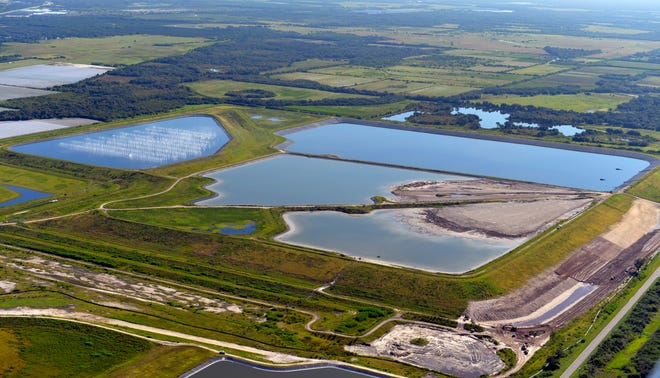A 2013 aerial photo of the old Piney Point fertilizer plant property in Manatee County near Port Manatee.