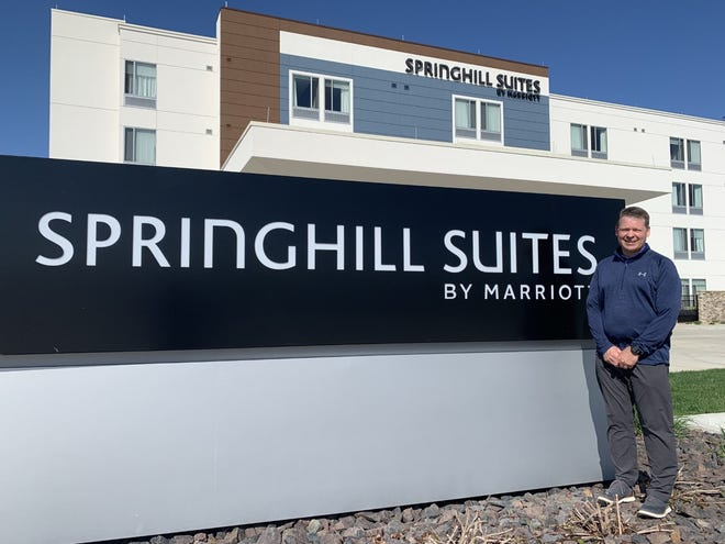 Darin Dame, owner of Springhill Suites, a Marriott hotel at 3921 S. MacArthur Blvd. in Springfield opened his hotel in August 2019. Half a year later, he was forced to layoff half of his employees after the COVID-19 pandemic caused occupancy at the hotel to drop into the single digits- down from a normally half full hotel.