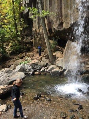Hazel Mandly of Chico, 7, at Hedge Creek Falls in Dunsmuir.