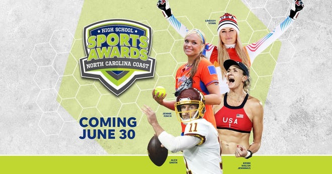 Lindsey Vonn, Alex Smith, Kerri Walsh, and The Bachelor's Matt James and Tyler Cameron, will be among a highly decorated group of presenters and guests for the NC Coast High School Sports Awards