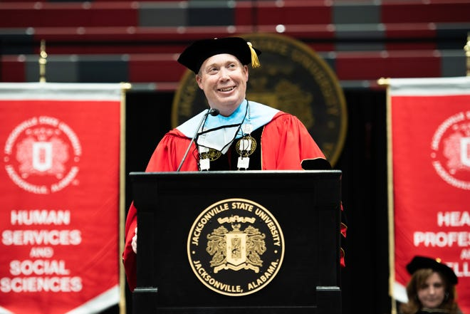Dr. Don C. Killingsworth Jr. on Friday was officially sworn in as the 13th president of Jacksonville State University.