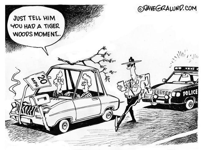 Tiger Woods crash, no charges