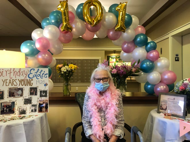 "Elenore ""Ellie"" Steinberg at her 101st birthday celebration and Lifetime Achievement Ceremony."