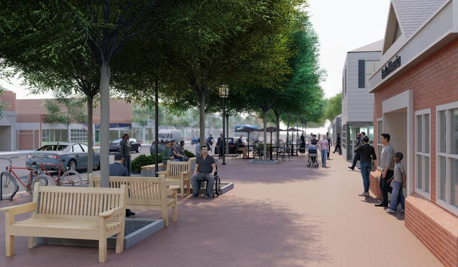 A rendering of what Lexington Center will look like when the Streetscape Project is complete