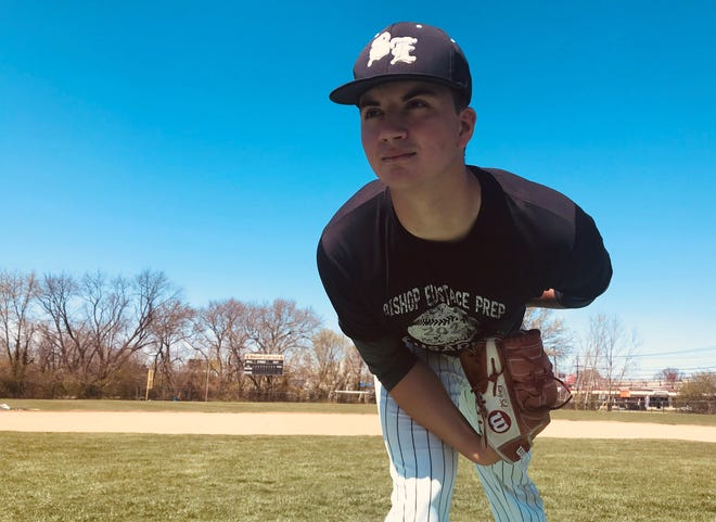 Bishop Eustace senior Anthony Solometo hopes to lead the Crusaders to their first state title since 2006. Solometo was the starting pitcher for Gloucester Catholic when the Rams won their last championship in 2018