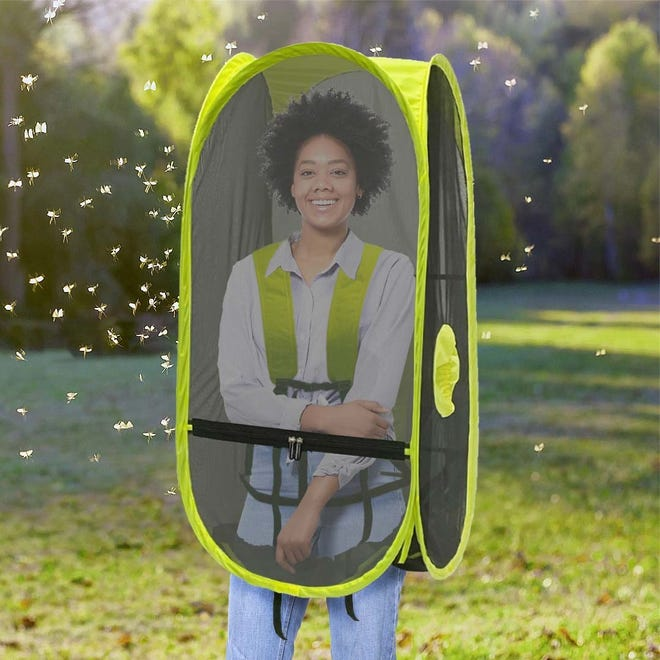 The WalkingPod Mesh with Bug-Screens made by Cincinnati-based Under the Weather.