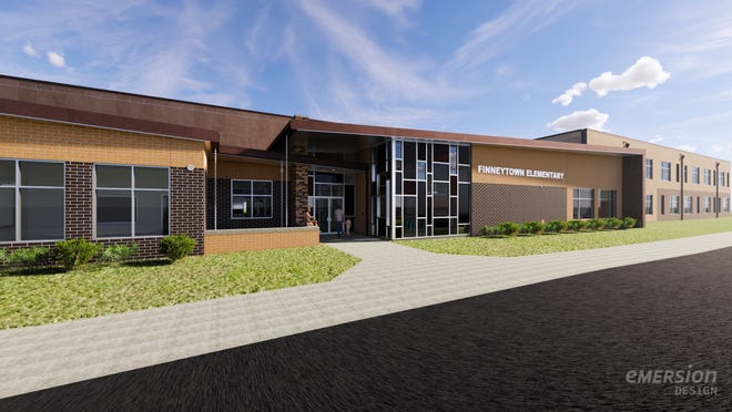 A rendering of Finneytown Elementary School, which will open to students in 2022.