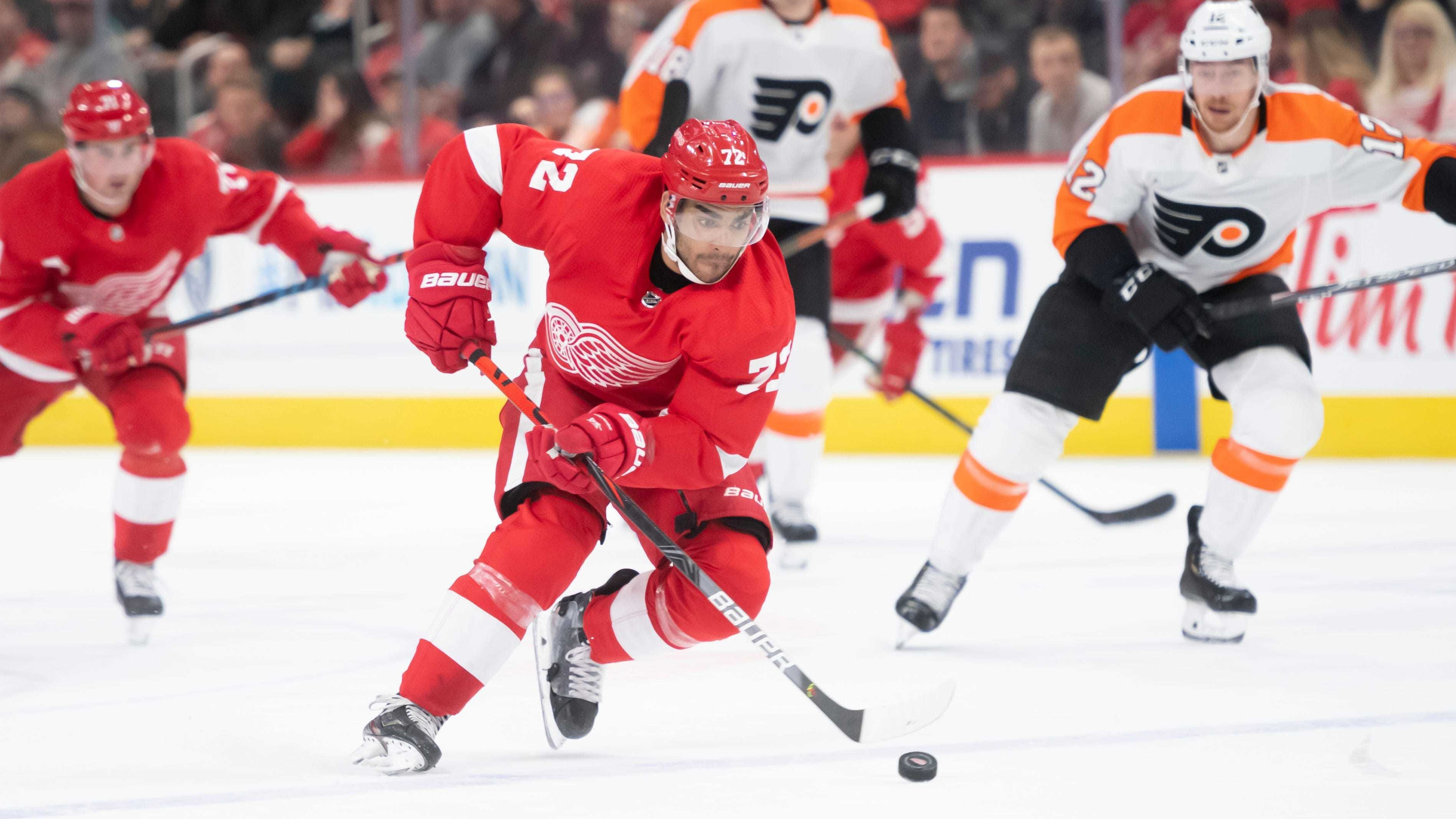Andreas Athanasiou spent four-plus seasons in Detroit before he was shipped to Edmonton.