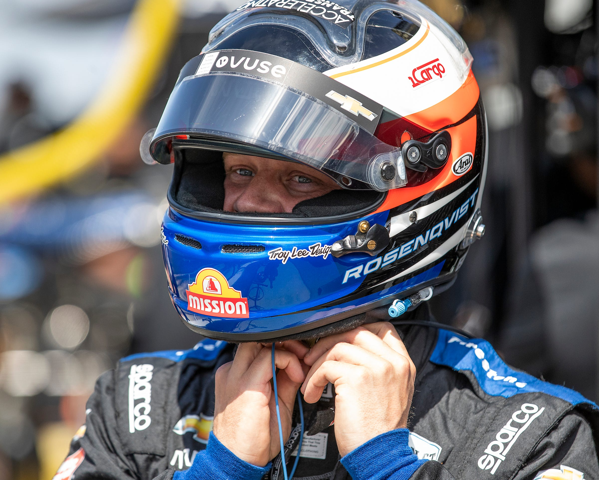 Oliver Askew replaces Felix Rosenqvist in Detroit Race 2 after Swede hospitalized following nasty crash