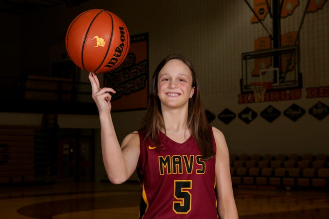 McCutcheon's Teresa Maggio is the 2021 Journal & Courier Big School Girls Basketball Player of the Year.