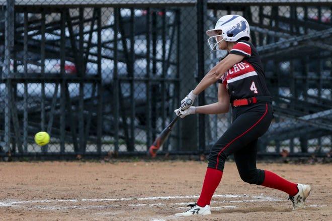 Brittney Cornego hit two home runs Thursday against Logansport.