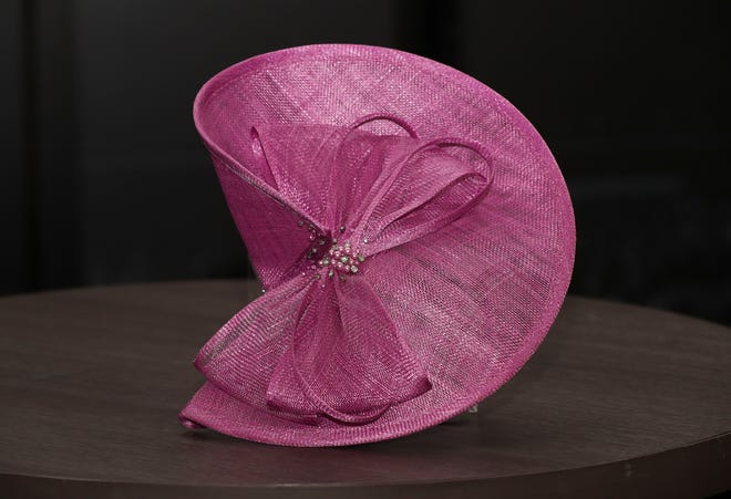 You won't be a shrinking violet at the track if you sport this lavender hatinator with jewels, $70.The fan-like structure of the piece adds a unique flair to any outfit. Big Brims & Fancy Trims annual Derby Hat sample sale at the Kentucky Derby Museum in Louisville, Ky. on Apr. 8, 2021.