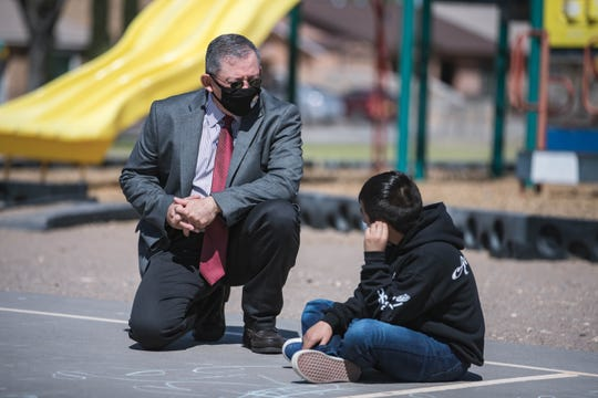 Las Cruces Public Schools Acting Superintendent Ralph Ramos is pictured at Valley View Elementary School on Friday April 9, 2021.