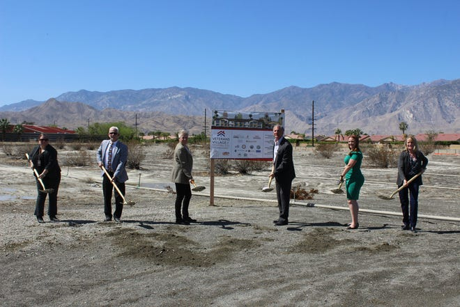 Groundbreaking ceremony for Veterans Village of Cathedral City on April 9, 2021.