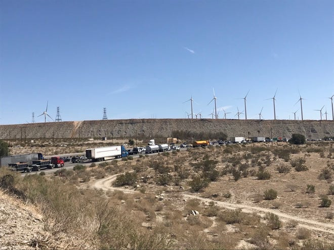 All westbound lanes of Interstate 10 east of Whitewater Canyon Road are blocked due to a deputy involved shooting that occurred in the area, the Riverside County Sheriff's Department reported on Friday, April 9, 2021.
