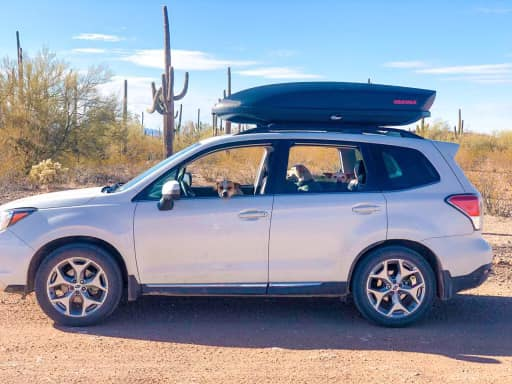 """The missing couple's Subaru was located off Gold Valley Road with a note that read, """"Two flat tires, headed to Mormon Point, have three days' worth of water."""""""