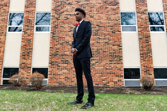 Lincoln High School student Surafel Berhanie poses for a portrait on Friday, April 9, 2021, outside the Boys and Girls Club office in Sioux Falls. Berhanie has been named the Youth of the Year by the Boys and Girls Club of the Sioux Empire.