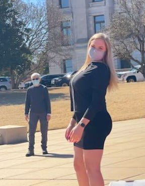 Transgender activist Willow Breshears, 18, last month at the Arkansas State Capitol, where she and others played sports on the lawn in response to a bill, now law, that bans transgender athletes from women's sports teams. Breshears, of Little Rock, said another state law that prohibits gender-affirming care for youths will endanger lives.