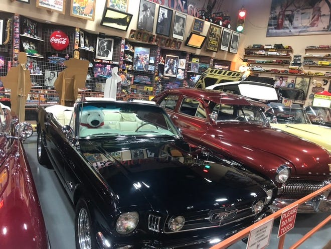 Located on historic Route 66 near Interstate 40, Russell's Truck & Travel Center, Glenrio, New Mexico, lures travelers with a free vintage car museum.