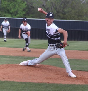 Lone Grove's Kort McCurtain tossed a two-hitter with 10 strikeouts on Friday during an 8-1 win over Plainview.