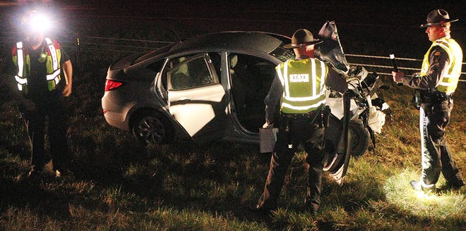 State troopers investigate a serious injury crash that occurred early Saturday morning on I-71 in Montgomery Township.