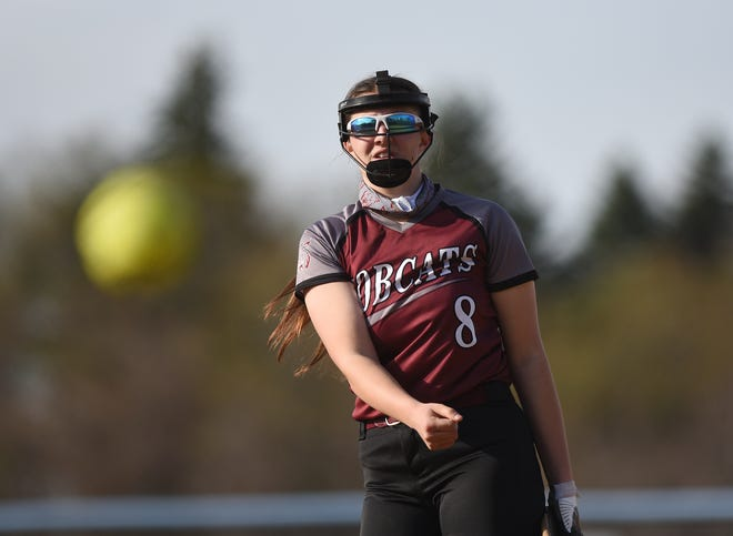 Beaver's Payton List pitches during a game on Friday against Central Valley. The Bobcats won 8-0.