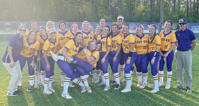 The South Beauregard Lady K's completed a perfect 5-0 season in District 4-3A play on Thursday with a 16-1 victory over Lake Charles College Prep.