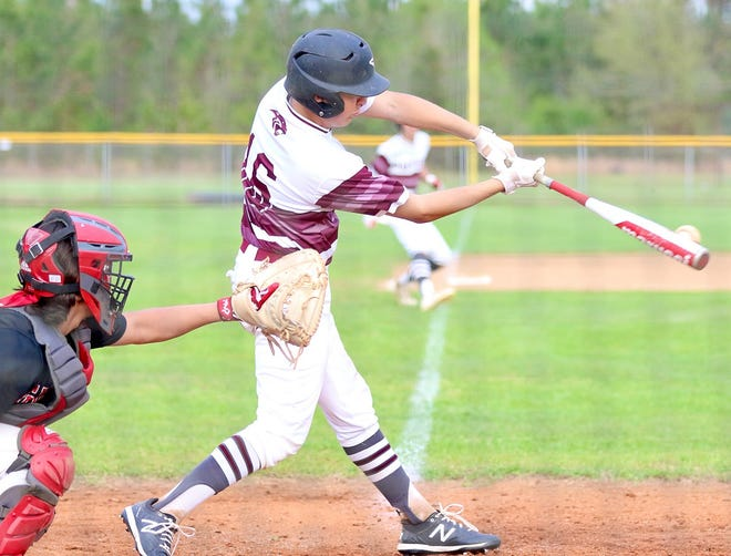 Merryville's Cameron Davis drove in five runs on two hits Thursday as the Panthers won a wild one against Hamilton Christian, 21-11.