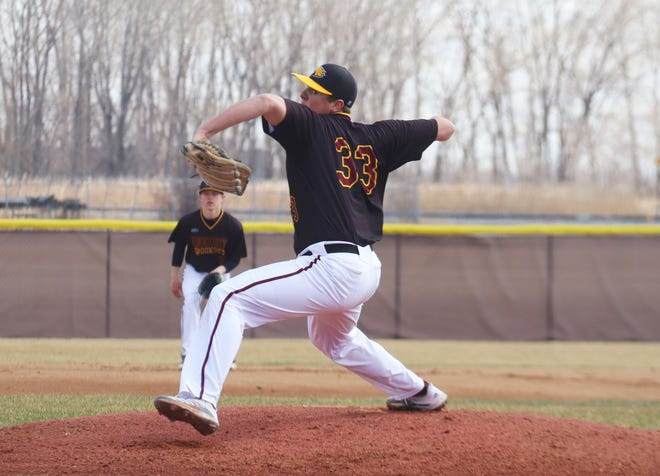 Jake Dykhoff pitched a gem in the first game of Saturday's doubleheader, tying a UMC program record with 14 strikeouts.