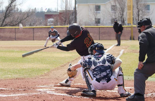 Mason Ruhlman is hitting .316 with four home runs and 17 RBIs for the Minnesota Crookston baseball team this season.