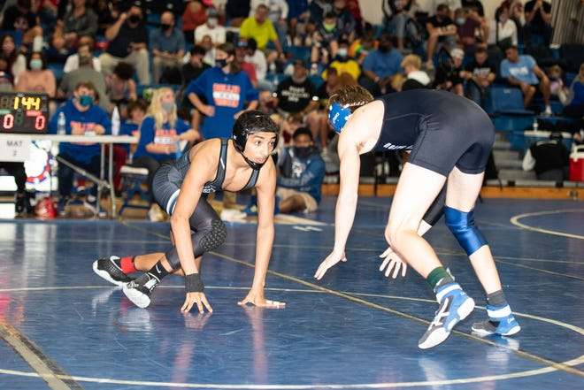 Ridgeview wrestler Matthew Rodriquez completed the season undefeated and won the FHSAA state title. [Ridgeview Athletics/Provided to the Times-Union]