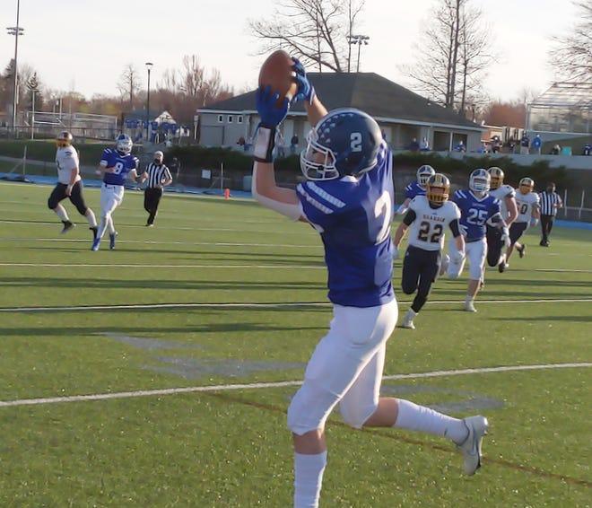 Lunenburg wide receiver Jaden Jenkins.