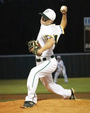 Hunter Thacker earned the win on the mound, while also scoring the game-tying run in Hicks' comeback win Thursday over Hornbeck, 4-3.