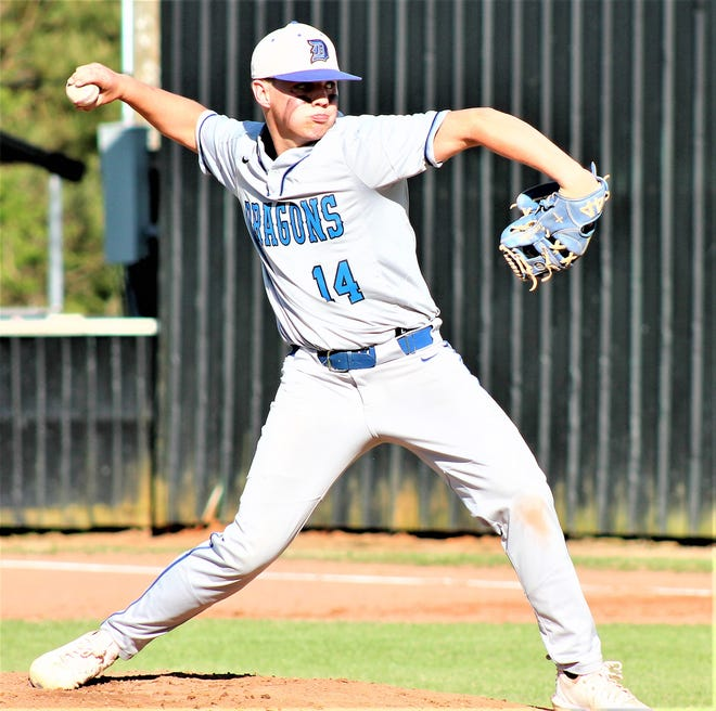 DeRidder starter Dawson Hebert had a stellar outing on Thursday with 11 strikeouts, tossing a four-hitter in a win over Leesville.