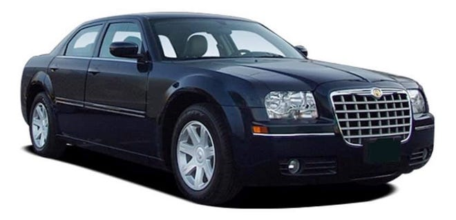 Petersburg Bureau of Police is looking for a black in color Chrysler 300, possibly a 2005 model, similar to the one pictured.