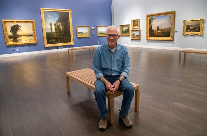 Haggin Museum CEO and Curator Tod Ruhstaller sits in one of the fine art galleries at the storied Stockton museum, an institution for nearly 100 years.