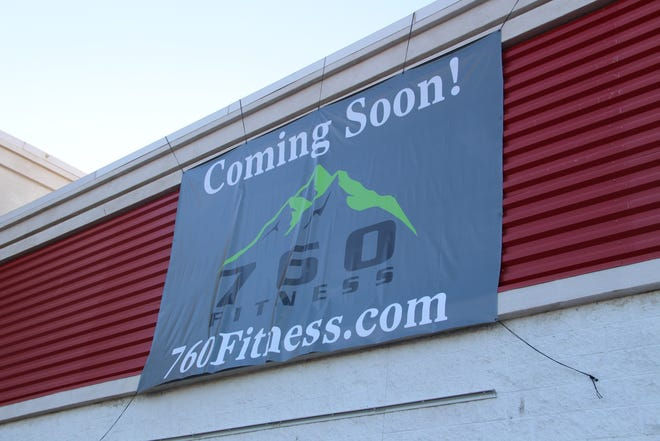 A sign for 760 Fitness adorns the old Staples building on South China Lake Boulevard in Ridgecrest.