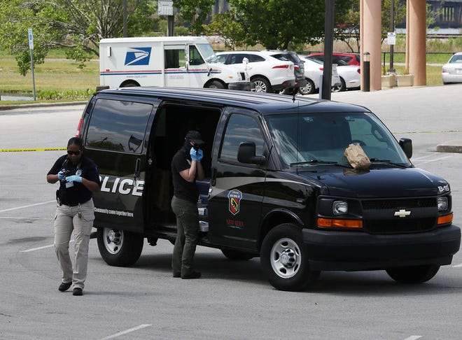Crime scene at New Bern Bridgepointe Hotel and Marina, where a woman was fatally shot on April 10, 2021.
