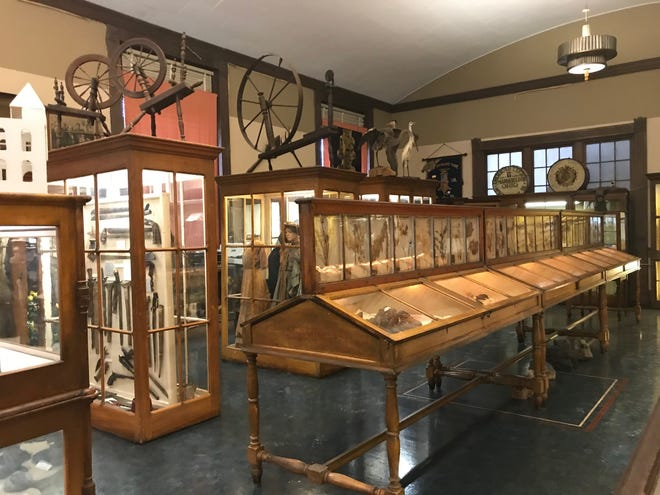 The second floor of the Mansfield Memorial Museum holds treasures from years gone by.
