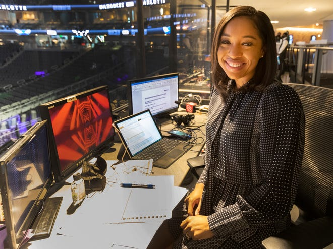 Zora Stephenson became the first woman to television play-by-play for a Bucks broadcast when she called the Milwaukee-Charlotte game April 9.