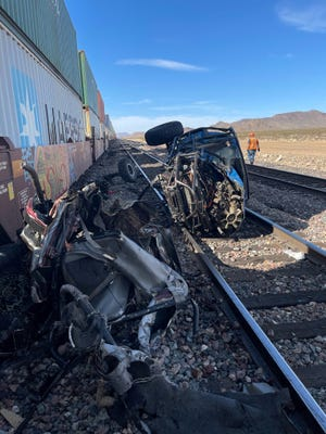 Three off-roaders, Wesley Hoagland, 54, Virginia Voyles, 49, and Larry Whatley, 72, were fatally hit by a train at about 2:42 p.m. April 4, 2021, near Kingman in Arizona.